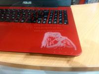 Лазерная гравировка на корпусе ноутбука в Минске