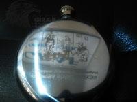Лазерная гравировка рисунка на часах в Минске за 15 минут