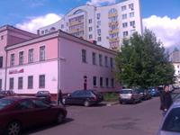 Лазерная гравировка Минск Сурганова 27 вид на здание с Хмельницкого со стороны метро